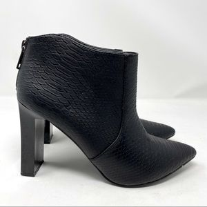Misguided Point Toe Croc Booties